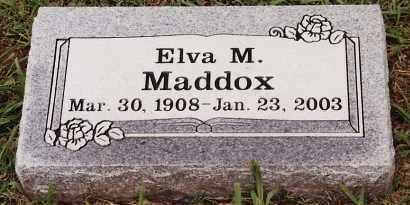 MADDOX, ELVA M - Johnson County, Arkansas | ELVA M MADDOX - Arkansas Gravestone Photos