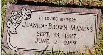 MANESS, JUANITA - Johnson County, Arkansas | JUANITA MANESS - Arkansas Gravestone Photos