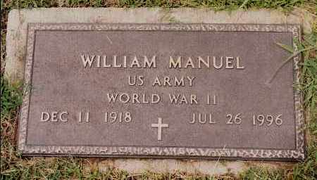 MANUEL  (VETERAN WWII), WILLIAM - Johnson County, Arkansas | WILLIAM MANUEL  (VETERAN WWII) - Arkansas Gravestone Photos