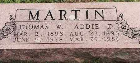 MARTIN, ADDIE D. - Johnson County, Arkansas | ADDIE D. MARTIN - Arkansas Gravestone Photos