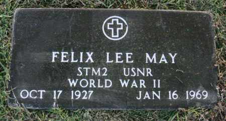 MAY  (VETERAN WWII), FELIX LEE - Johnson County, Arkansas | FELIX LEE MAY  (VETERAN WWII) - Arkansas Gravestone Photos