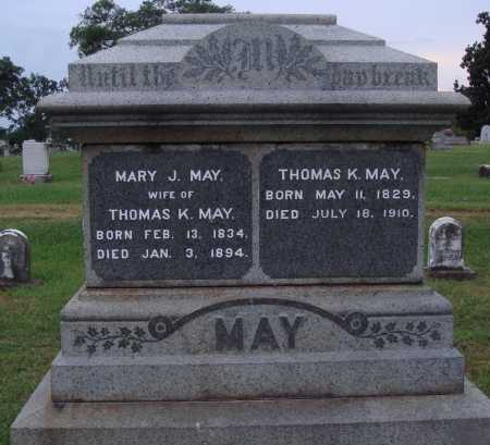 MAY, THOMAS K. - Johnson County, Arkansas | THOMAS K. MAY - Arkansas Gravestone Photos