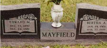 MAYFIELD, EDWARD M - Johnson County, Arkansas | EDWARD M MAYFIELD - Arkansas Gravestone Photos