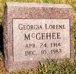 MCGEHEE, GEORGIA LORENE - Johnson County, Arkansas | GEORGIA LORENE MCGEHEE - Arkansas Gravestone Photos