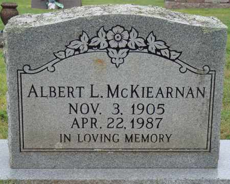 MCKIEARNAN, ALBERT L. - Johnson County, Arkansas | ALBERT L. MCKIEARNAN - Arkansas Gravestone Photos