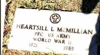 MCMILLIAN  (VETERAN WWII), HEARTSILL L - Johnson County, Arkansas | HEARTSILL L MCMILLIAN  (VETERAN WWII) - Arkansas Gravestone Photos