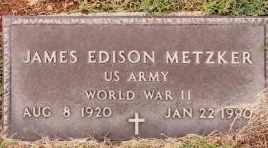 METZKER  (VETERAN WWII), JAMES EDISON - Johnson County, Arkansas | JAMES EDISON METZKER  (VETERAN WWII) - Arkansas Gravestone Photos