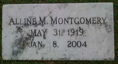 MONTGOMERY, ALLINE M. - Johnson County, Arkansas | ALLINE M. MONTGOMERY - Arkansas Gravestone Photos