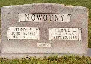 NOWOTNY, FURNIE E. - Johnson County, Arkansas | FURNIE E. NOWOTNY - Arkansas Gravestone Photos