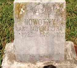 NOWOTNY, BABY BOY - Johnson County, Arkansas | BABY BOY NOWOTNY - Arkansas Gravestone Photos