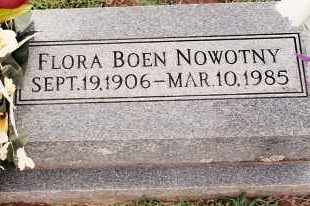 BOEN NOWOTNY, FLORA - Johnson County, Arkansas | FLORA BOEN NOWOTNY - Arkansas Gravestone Photos