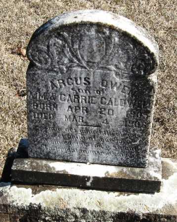 CALDWELL, ARGUS OWEN - Johnson County, Arkansas | ARGUS OWEN CALDWELL - Arkansas Gravestone Photos