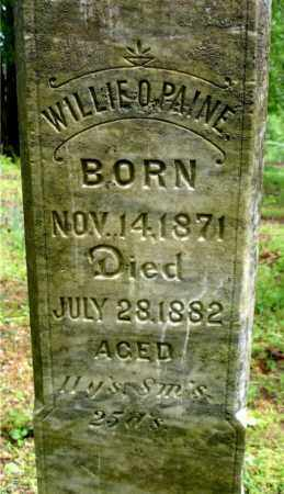 PAINE, WILLIE O, (CLOSE UP) - Johnson County, Arkansas | WILLIE O, (CLOSE UP) PAINE - Arkansas Gravestone Photos