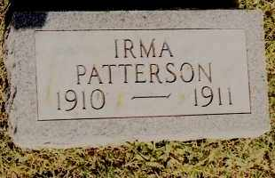 PATTERSON, IRMA - Johnson County, Arkansas | IRMA PATTERSON - Arkansas Gravestone Photos