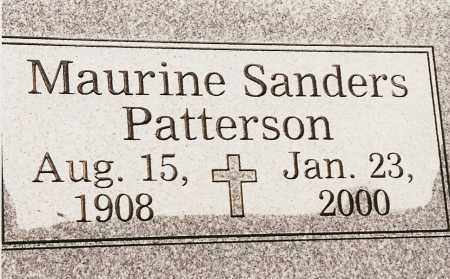 PATTERSON, MAURINE SANDERS - Johnson County, Arkansas | MAURINE SANDERS PATTERSON - Arkansas Gravestone Photos
