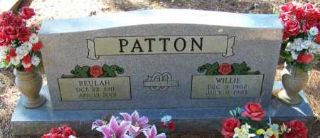 PATTON, WILLIE - Johnson County, Arkansas | WILLIE PATTON - Arkansas Gravestone Photos