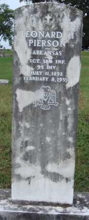 PIERSON  (VETERAN WWI), LEONARD H. - Johnson County, Arkansas | LEONARD H. PIERSON  (VETERAN WWI) - Arkansas Gravestone Photos
