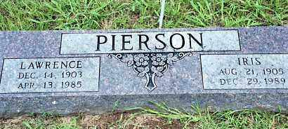 PIERSON, LAWRENCE - Johnson County, Arkansas | LAWRENCE PIERSON - Arkansas Gravestone Photos