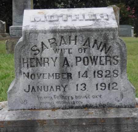POWERS, SARAH ANN - Johnson County, Arkansas | SARAH ANN POWERS - Arkansas Gravestone Photos