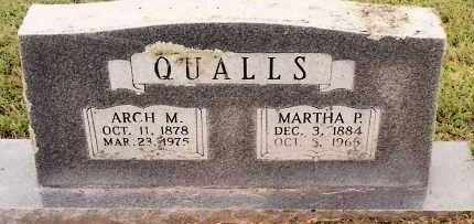 QUALLS, ARCH M. - Johnson County, Arkansas | ARCH M. QUALLS - Arkansas Gravestone Photos