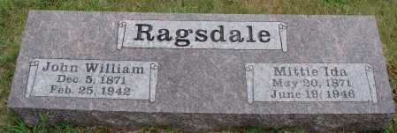 RAGSDALE, JOHN WILLIAM - Johnson County, Arkansas | JOHN WILLIAM RAGSDALE - Arkansas Gravestone Photos
