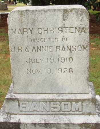 RANSOM, MARY CHRISTENA - Johnson County, Arkansas | MARY CHRISTENA RANSOM - Arkansas Gravestone Photos