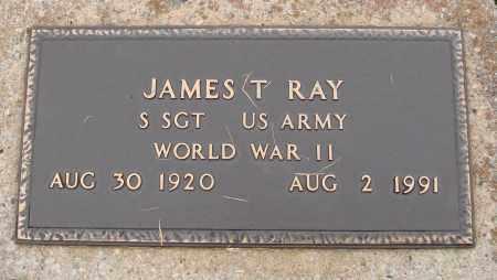 RAY  (VETERAN WWII), JAMES T. - Johnson County, Arkansas | JAMES T. RAY  (VETERAN WWII) - Arkansas Gravestone Photos