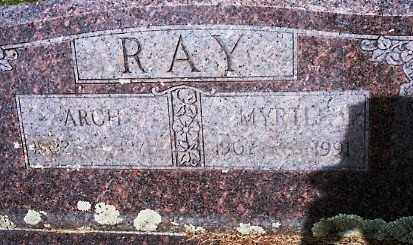 WARREN RAY, MYRTLE - Johnson County, Arkansas | MYRTLE WARREN RAY - Arkansas Gravestone Photos