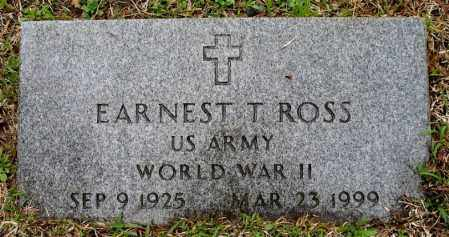 ROSS  (VETERAN WWII), EARNEST T - Johnson County, Arkansas | EARNEST T ROSS  (VETERAN WWII) - Arkansas Gravestone Photos