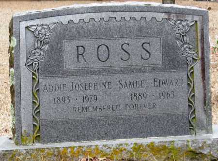 ROSS, SAMUEL EDWARD - Johnson County, Arkansas | SAMUEL EDWARD ROSS - Arkansas Gravestone Photos