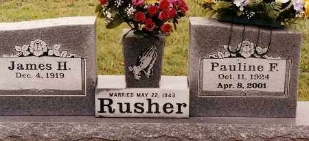 RUSHER, PAULINE F. - Johnson County, Arkansas | PAULINE F. RUSHER - Arkansas Gravestone Photos