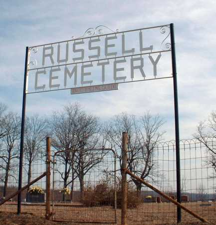 *RUSSELL CEMETERY GATE,  - Johnson County, Arkansas |  *RUSSELL CEMETERY GATE - Arkansas Gravestone Photos