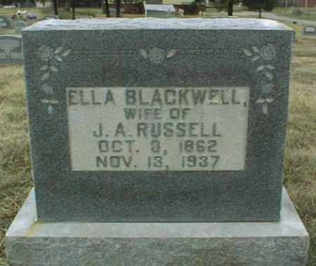 BLACKWELL RUSSELL, ELLA - Johnson County, Arkansas | ELLA BLACKWELL RUSSELL - Arkansas Gravestone Photos