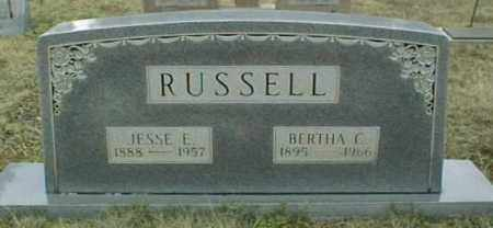 RUSSELL, BERTHA C - Johnson County, Arkansas | BERTHA C RUSSELL - Arkansas Gravestone Photos