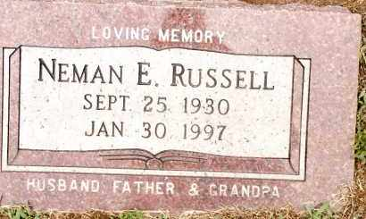RUSSELL, NEMAN E. - Johnson County, Arkansas | NEMAN E. RUSSELL - Arkansas Gravestone Photos