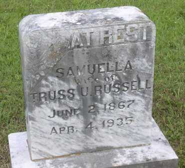 RUSSELL, SAMUELLA - Johnson County, Arkansas | SAMUELLA RUSSELL - Arkansas Gravestone Photos