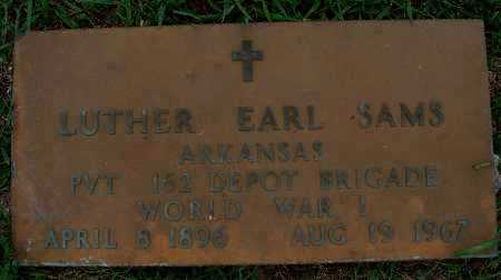 SAMS  (VETERAN WWI), LUTHER EARL - Johnson County, Arkansas | LUTHER EARL SAMS  (VETERAN WWI) - Arkansas Gravestone Photos