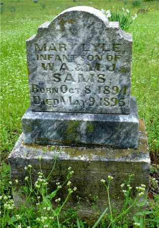 SAMS, MARY LYLE - Johnson County, Arkansas | MARY LYLE SAMS - Arkansas Gravestone Photos