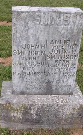 SMITHSON, JOHN H - Johnson County, Arkansas | JOHN H SMITHSON - Arkansas Gravestone Photos