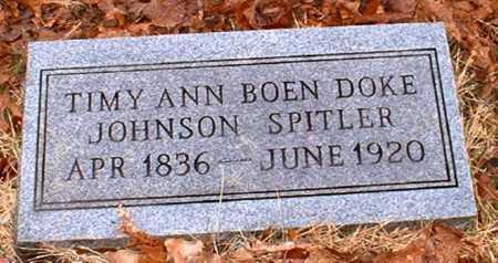 BOEN SPITLER, TIMY ANN - Johnson County, Arkansas | TIMY ANN BOEN SPITLER - Arkansas Gravestone Photos