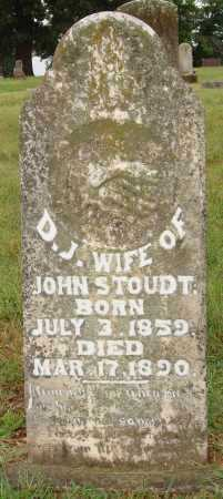 STOUDT, D. J. - Johnson County, Arkansas | D. J. STOUDT - Arkansas Gravestone Photos