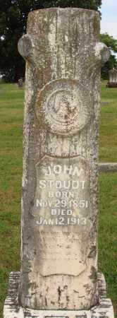 STOUDT, JOHN - Johnson County, Arkansas   JOHN STOUDT - Arkansas Gravestone Photos