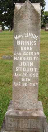 BRINKS STOUDT, LINNIE - Johnson County, Arkansas | LINNIE BRINKS STOUDT - Arkansas Gravestone Photos
