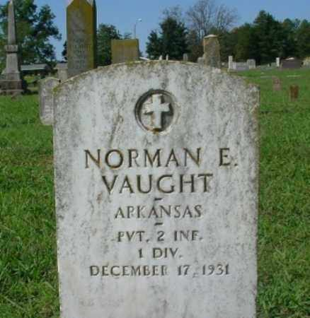 VAUGHT (VETERAN), NORMAN E. - Johnson County, Arkansas | NORMAN E. VAUGHT (VETERAN) - Arkansas Gravestone Photos