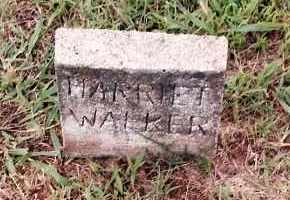 WALKER, HARRIET - Johnson County, Arkansas | HARRIET WALKER - Arkansas Gravestone Photos