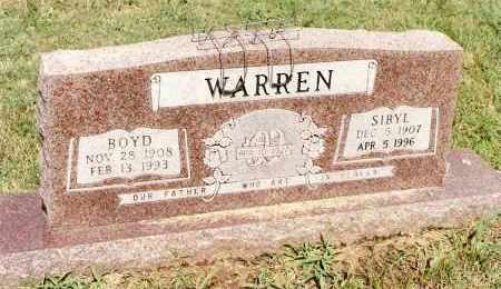 WARREN, BOYD - Johnson County, Arkansas | BOYD WARREN - Arkansas Gravestone Photos