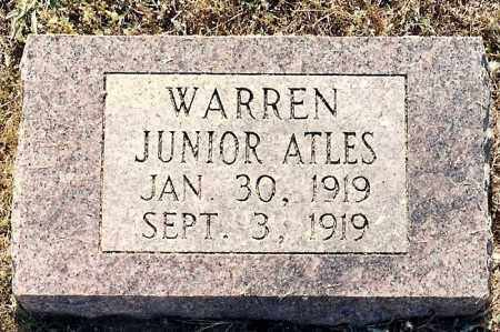WARREN, JUNIOR - Johnson County, Arkansas | JUNIOR WARREN - Arkansas Gravestone Photos