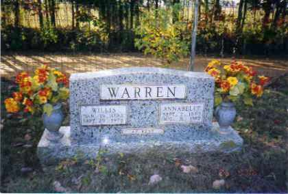 STORMS WARREN, ANNABELLE - Johnson County, Arkansas | ANNABELLE STORMS WARREN - Arkansas Gravestone Photos