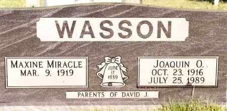 WASSON, MAXINE - Johnson County, Arkansas | MAXINE WASSON - Arkansas Gravestone Photos