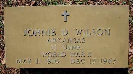 WILSON  (VETERAN WWII), JOHNIE D - Johnson County, Arkansas | JOHNIE D WILSON  (VETERAN WWII) - Arkansas Gravestone Photos
